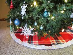 plaid tree skirt diy plaid christmas tree skirt with satin binding