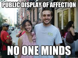 Interracial Dating Meme - public display of affection no one minds ridiculously photogenic