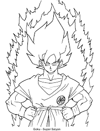 dragon ball z coloring pages anime manga to color pinterest