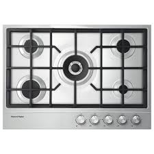 Cooktops Gas 30 Inch Shop Fisher U0026 Paykel 5 Burner Gas Cooktop Stainless Steel
