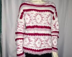 tribal sweater tribal sweater etsy