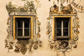 decorated windows berchtesgaden germany stock photo image 40697354