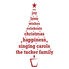 personalised christmas tree wall decal ethical market personalised christmas tree wall decal