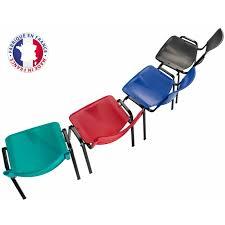 Chaise Coque Plastique Empilable Accrochable Non Feu M2 Chaise Plastique Réunion M2 Accrochable Empilable