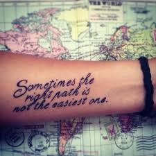 meaningful arm quotes sometimes the right path is not the