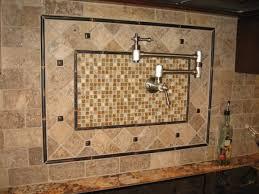 pot filler kitchen faucet kitchen backsplash mosaic accent of glass mosaic blend