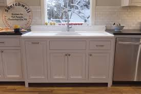 modern kitchen sink with drain boards and chrome faucet the search for a vintage farmhouse sink domestic imperfection