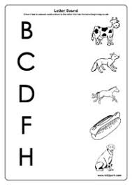 beginning letter sounds worksheets for kids home schooling