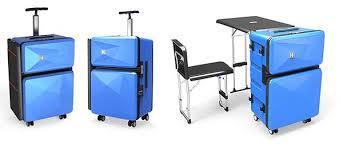 multi use furniture auca multi purpose luggage transforms into furniture the gadgeteer