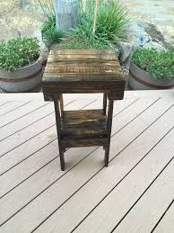 How To Build Wood End Tables by Diy Pallet End Table Hometalk