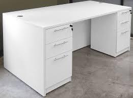 Rectangular Office Desk K Series By Dynamic Office Services In White Dynamic Office Services