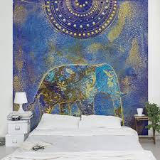 wandgestaltung orientalisch vliestapete elephant in marrakech fototapete quadrat