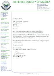forwarding letter letter forwarding certificate of award of 2001 corporate award of