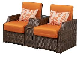 Cushions For Reclining Garden Chairs Bay Isle Home Burton Double Reclining Chair With Cushions