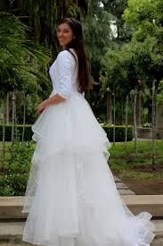 ivory lace wedding dress alexandra tznius modest wedding dress with sleeves