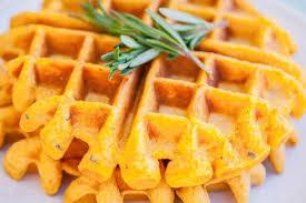 healthy waffles recipe gluten free sweet potato and rosemary