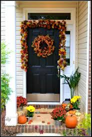 front porch fall front thanksgiving home door decorations porch