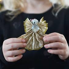 how to make a christmas angel ornament out of wired ribbon a
