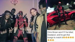 Halloween Costumes Deadpool Chris Brown Deadpool Club Poppin Halloween Costumes