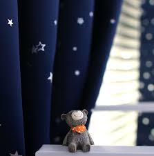 Navy Blue Curtains For Nursery Two Panels Silver Navy Blue Light Blocking Grommet