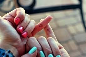 match heart on pinky finger tattoo fmag com