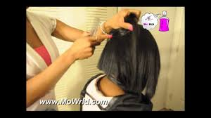 mowrld quick weave bob with invisible part and no leave out youtube