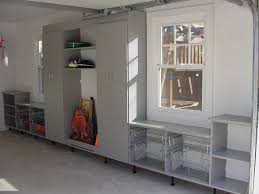 custom garage cabinets chicago wonderful organized mud room lots of storage space and handy pull