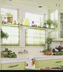 Curtain Suspension Rod Kitchen Window Glass Shelf With Tension Rods Underneath One