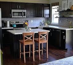 white backsplash dark cabinets kitchen backsplash with dark cabinets erinromito co