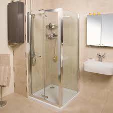 Shower Folding Doors Simple Design Folding Shower Doors Bright And Modern Bi Fold Door