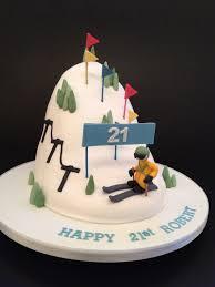birthday cake ideas skiing image inspiration of cake and
