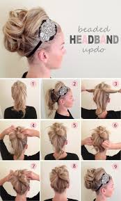 updos for long hair i can do my self beaded headband updo i won t ever wear the head band or make my