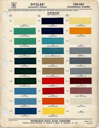 22 best car paint chips 1957 images on pinterest color charts