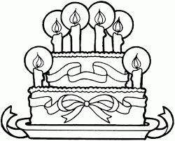 sketches for colouring birthday beautiful cake cakes sketches for