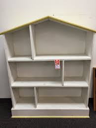 furniture white dollhouse bookcase with flat roof for kids room
