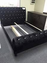 Velvet Sleigh Bed Queen Beds Goingbunks Biz