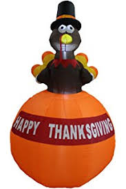 gemmy airblown thanksgiving inflatables turkey with