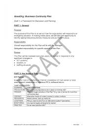 sample business continuity plan small business sales slip template