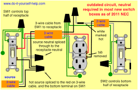 wiring diagram for two switches to one receptacle
