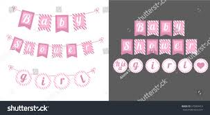 printable template flags banner baby shower stock vector 570983419