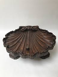 exuberant italian baroque coffee table in a seashell shape circa