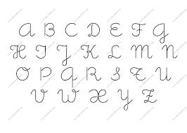pumpkin stencil letters cute girly cursive custom made to order stencil alphabet