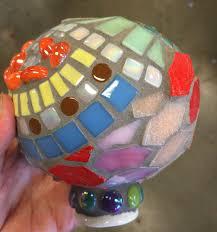 Ceramic Garden Art Mosaic Gazing Ball Garden Art Yucandu