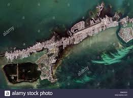 Map Florida Keys by Aerial Map View Above Marathon Key Florida Keys Stock Photo