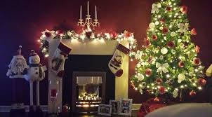 christmas decoration living room with tree gifs under near