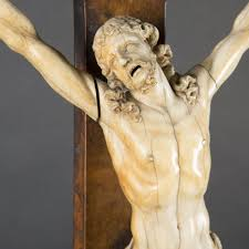 large crucifix large crucifix with ivory 18th century expertissim
