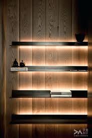 shelf with lights underneath floating shelves with lights glass built in led diy shelf