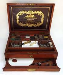 antique artist s supplies artists watercolor paint boxes