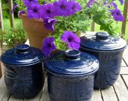 navy blue canister etsy