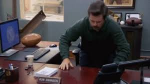 Ron Swanson Circle Desk Episode Parks And Recreation S06e11